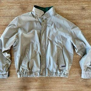 Vintage Men's Members Only Beige Bomber Jacket